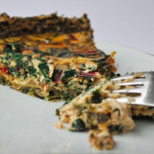 Red Chard Quiche with Spinach Wheat Germ Crust. Cost per serving: $0 ...