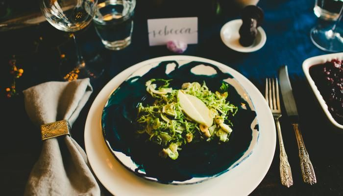 Shaved Brussels Sprouts Salad with Apples, Hazelnuts & Brown Butter D ...