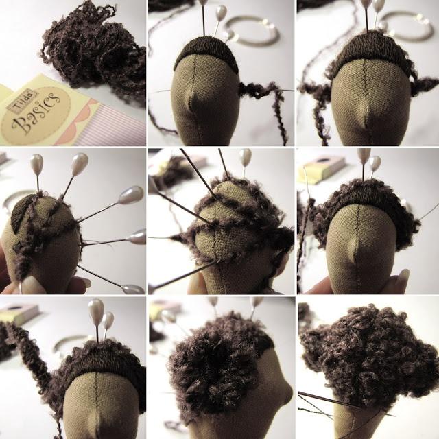 Как сделать волос кукле тильде 846