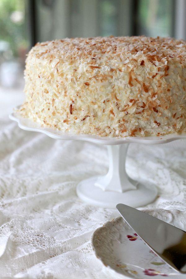 Coconut And Espresso Cream Layer Cake Recipe — Dishmaps