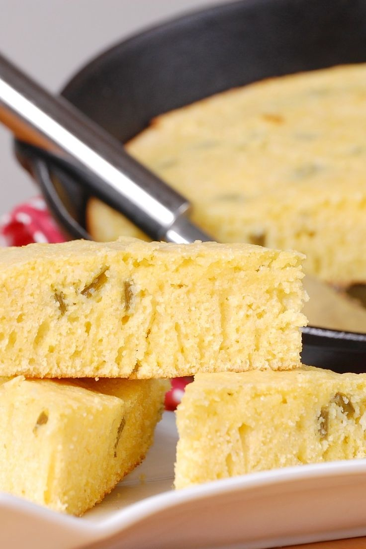 Jalapeno Cheddar Cornbread Recipe   Bread   Pinterest