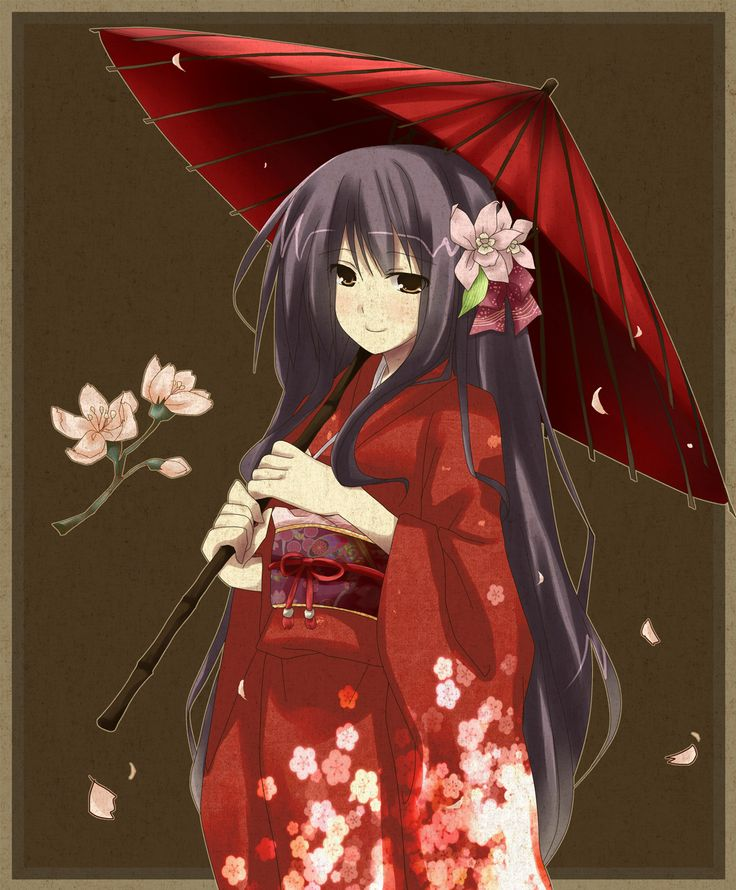 Anime Characters Kimono : Anime girl in kimono my son loves pinterest