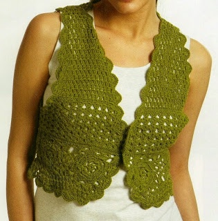 Free Knitting Patterns - Lace Vest Crochet - Bolero ...