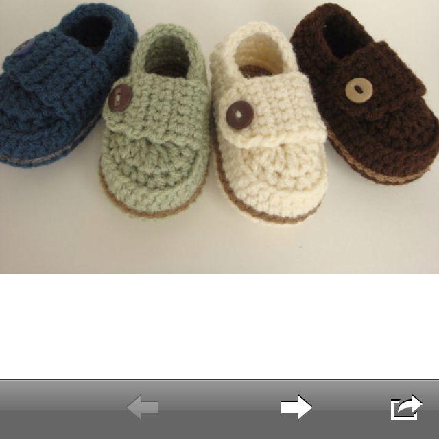 Crochet Pattern Baby Boy Loafers : Baby boy crochet loafers Baby Pinterest