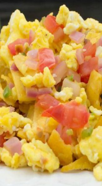 Texas Migas... delicious combination of scrambled eggs, loaded with ...