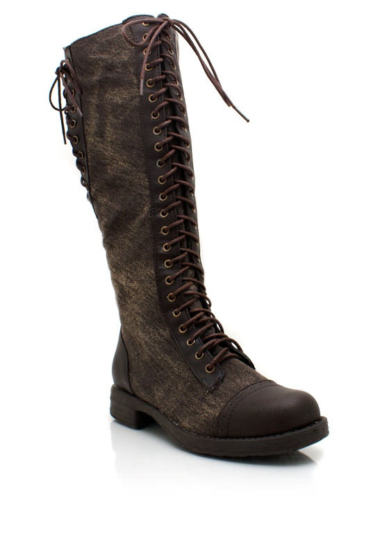 Lace up faux leather riding boots 38 95 a girls bestfriend shoes
