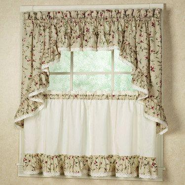 Cherries tier kitchen window treatment curtains pinterest - Pinterest kitchen window treatments ...
