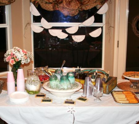 baby shower table set up baby shower ideas pinterest