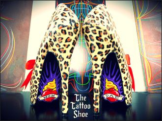 Hearts on Fire Heels by The Tattoo Shoe