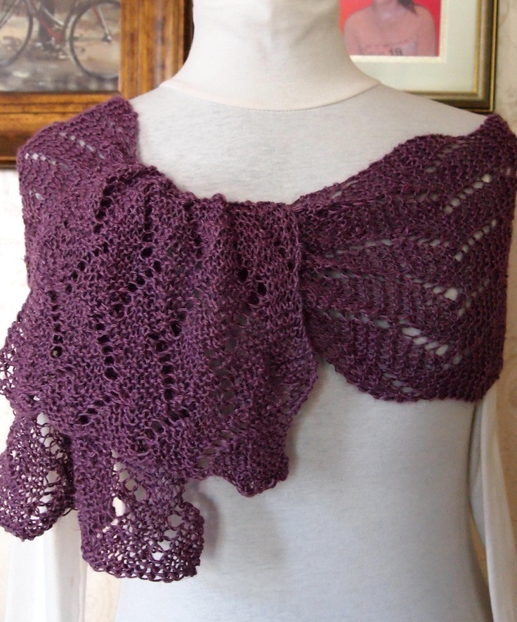 Garden Wave PDF Hand Knitting Scarf Pattern by KnitChicGrace