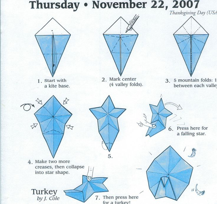 turkey origami pinterest