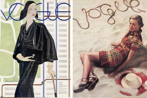Première couverture de Vogue avec photos en mars 1934 #mode #magazine #annees30 #30s #fashion