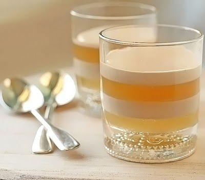 chai panna cotta with a honey jelly #pannacotta