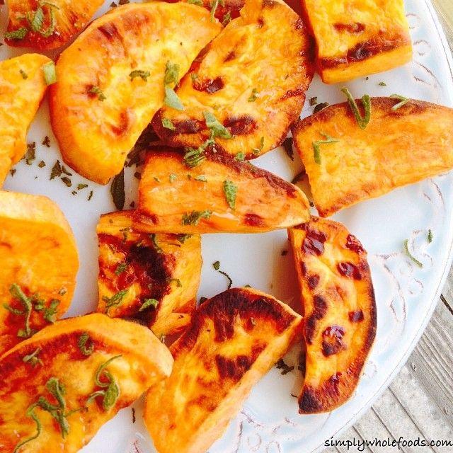 Caramelized Sweet Potato Wedges Recipe — Dishmaps