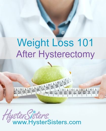 post hysterectomy weight loss