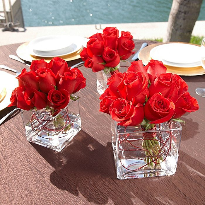 Red rose centerpiece ideas wedding pinterest