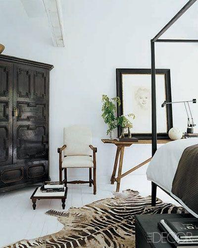 British Classy, Stark, Colonial Interior (+ zebra rug)