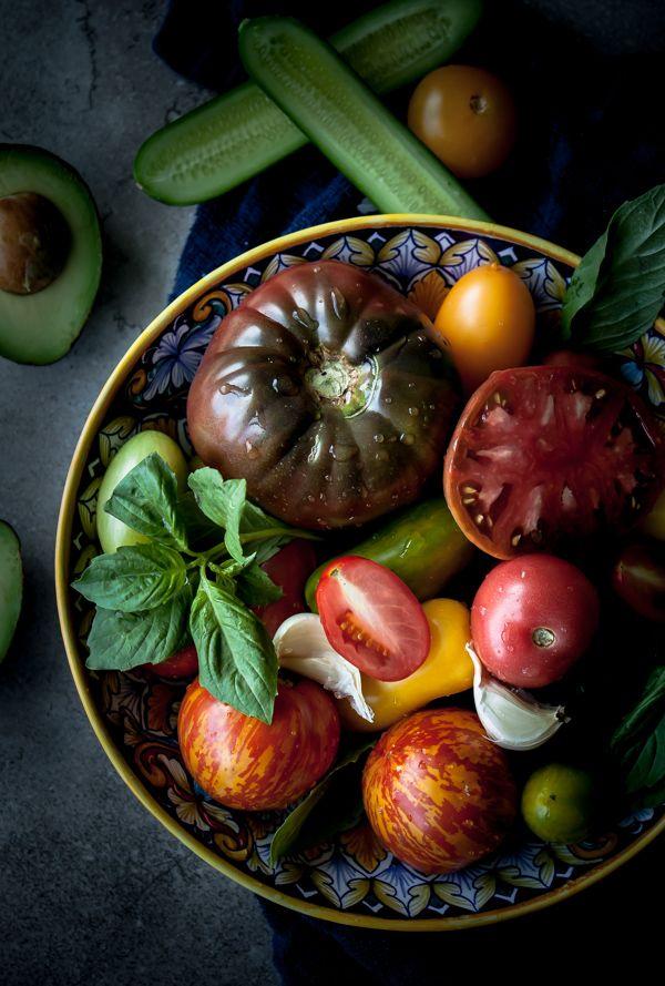 Creamy Heirloom Tomato and Avocado Gazpacho | Recipe