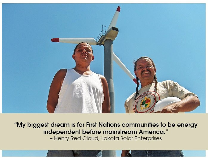Native Americans working on solar energy for the rez