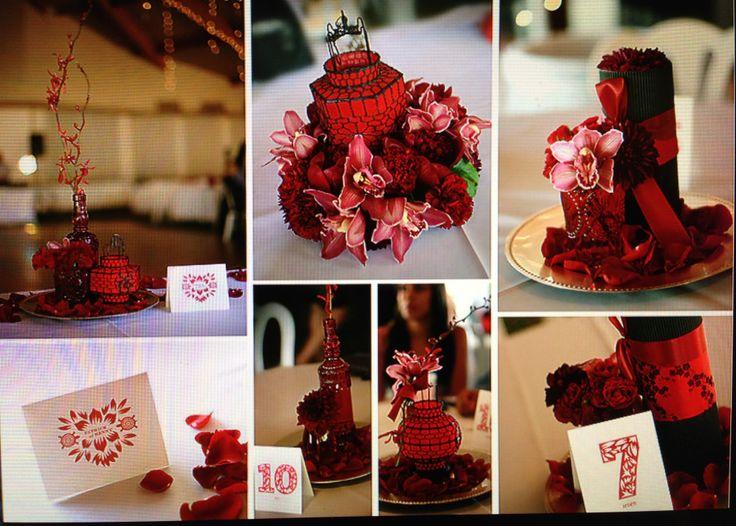 Chinese wedding decoration ideas elitflat red chinese wedding centerpieces wedding asian pinterest junglespirit Images