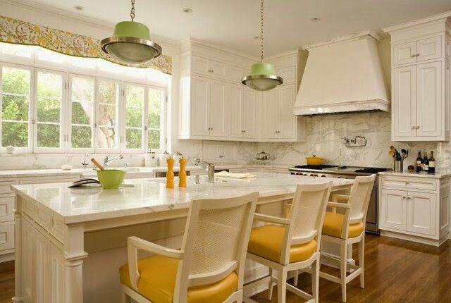 Yellow kitchen with green color accents home sweet home - Kitchen with yellow accents ...