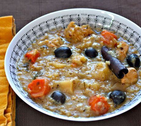 Recipe for Moroccan chicken and rice soup with parsnips and carrots ...