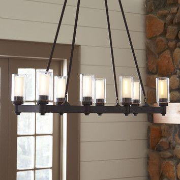 rectangular chandelier. Black Bedroom Furniture Sets. Home Design Ideas