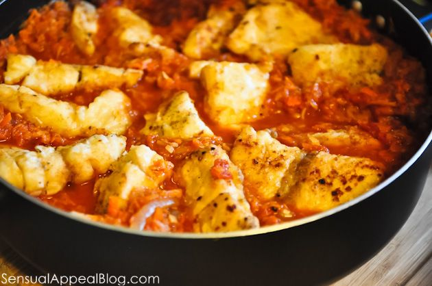 Polish FISH dish in carrot & tomato sauce. Try it with whatever fish ...