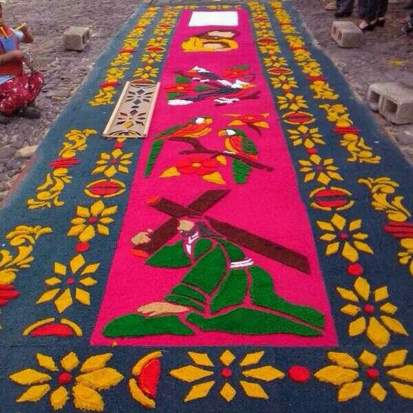 Alfombras semana santa en guatemala pinterest for Alfombras persas en mexico