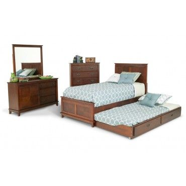 Chadwick 8 Piece Trundle Bedroom Set With Twin Panel Bed