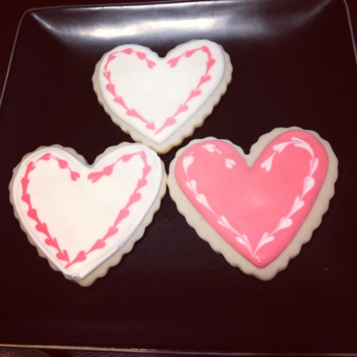 Valentines sugar cookies! | Cookie | Pinterest