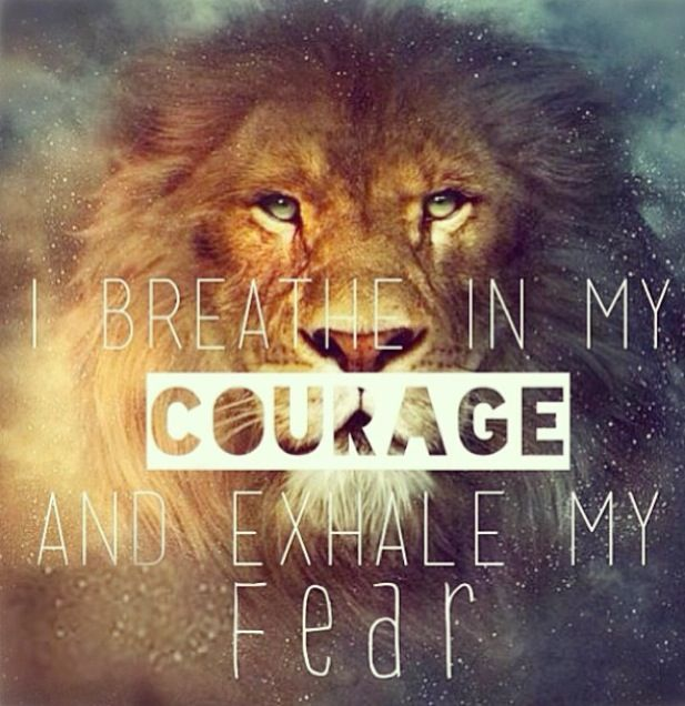 Like a lion, just have the courage enough to face the problem and ...