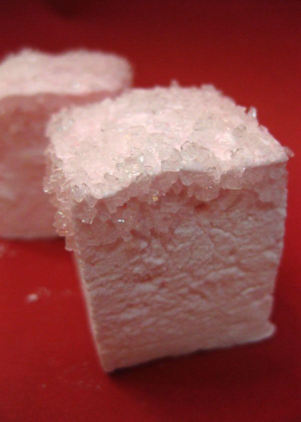 Strawberry Champagne Marshmallows - 1 dozen Gourmet homemade marshmal ...