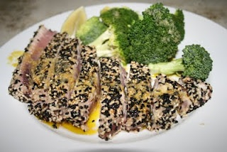 ... , and shopping lists: Sesame Seared Tuna with Lime Ginger Vinaigrette