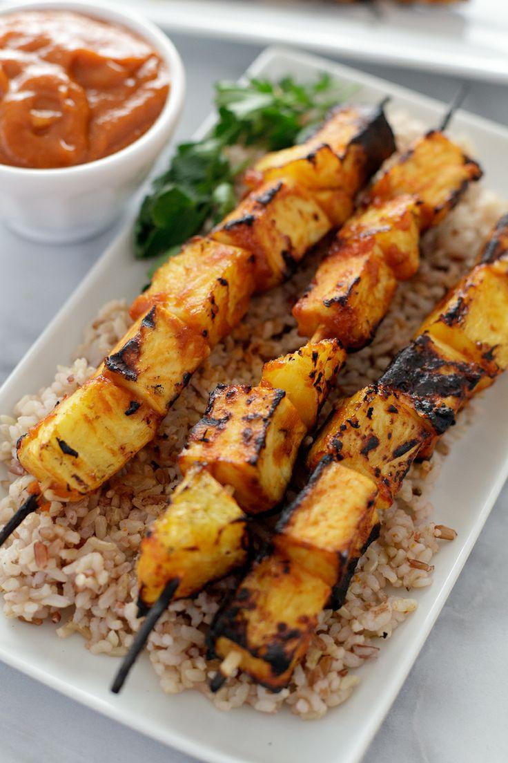 ... tofu skewers with spicy mango BBQ sauce | Snixy Kitchen #tofu