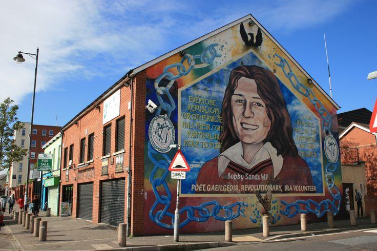 Bobby sands mural in west belfast belfast giants for Bobby sands mural