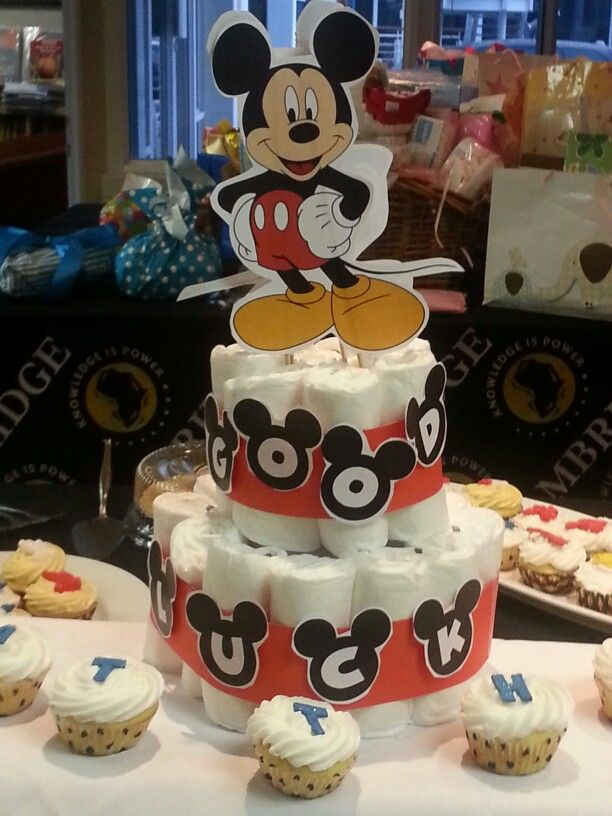 mickey mouse diaper cake baby shower my own cakes pinterest