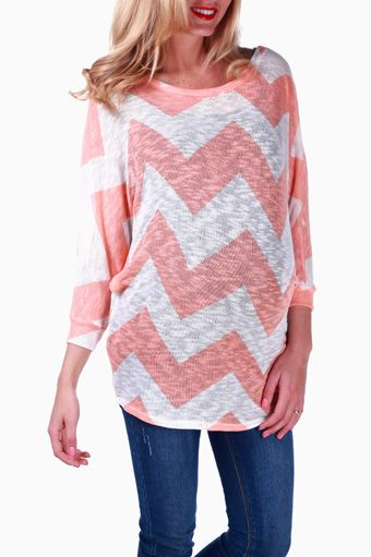 peach white knit chevron maternity top really cute maternity clothes