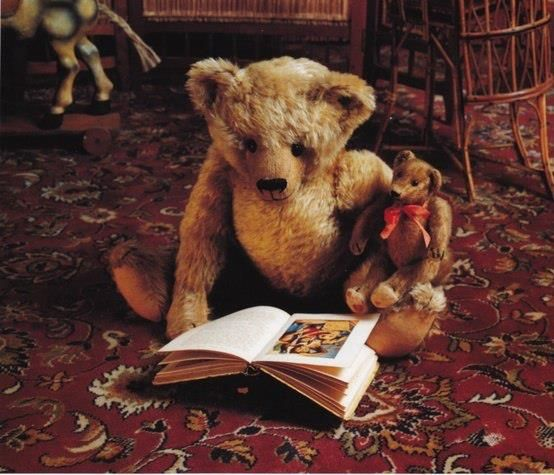 Real teddy bears and reading two of my favourite things