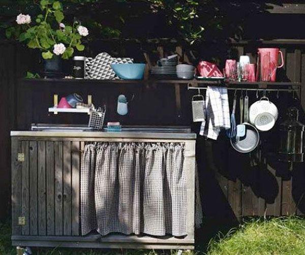 Diy Outdoor Kitchen Diy Crafts Pinterest