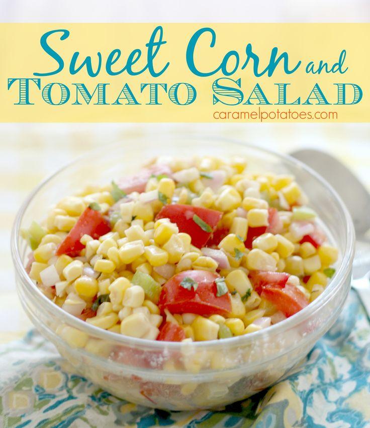 Sweet Corn and Tomato Salad 007 | Salads | Pinterest
