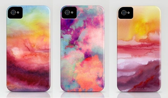 DIY Watercolor iPhone Case