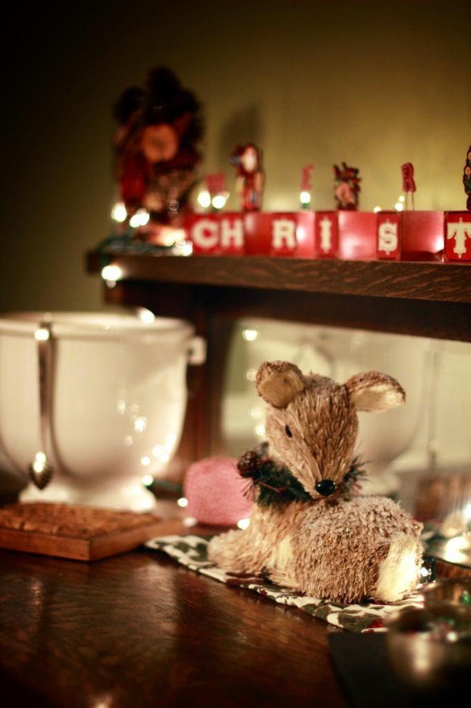Christmas buffet table decorating photograph dec