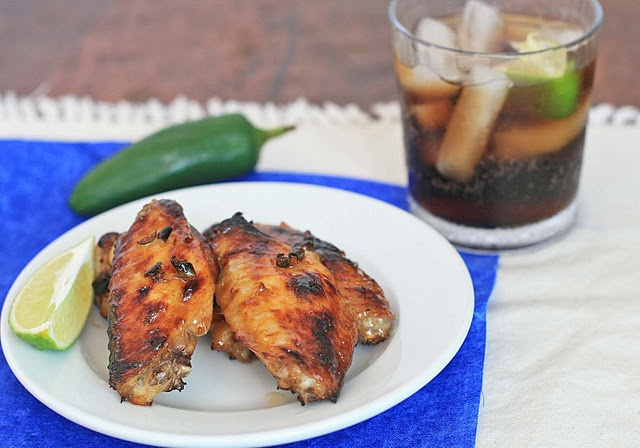 Spicy Coca-Cola Jalapeno Glazed Chicken Wings