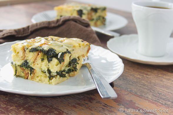 spinach strata | Breakfast | Pinterest