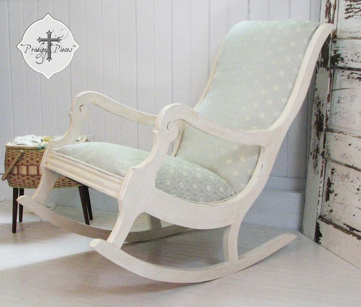 How to Reupholster & Paint a Rocking Chair, Part 3 - Finale!