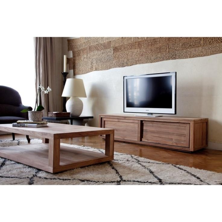 meuble bas meuble bas tv teck pure ethnicraft 1 meuble tv bas en teck sotra - Meuble Tv Bas Teck