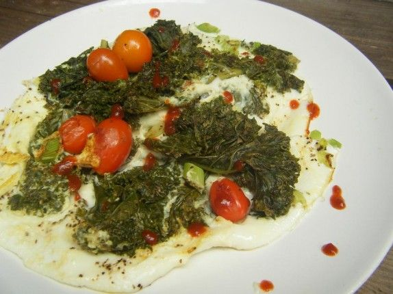 Kale Tomato & Chive Omelet | My 24 Day Challenge Resources | Pinterest