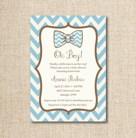 baby bow tie shower invitation custom printable by lilygirlpaper 13