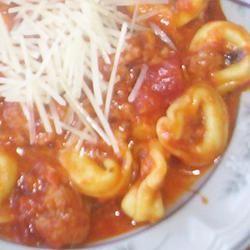 Cheesy Italian Tortellini Allrecipes.com | Food | Pinterest